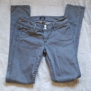 Hudson Collin Flap Skinny Jeans size 26 gray